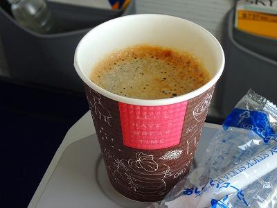 スカイマークのコーヒー
