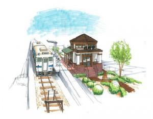 枕崎駅舎デザインイメージ