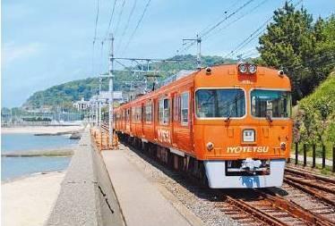 伊予鉄オレンジ車両2