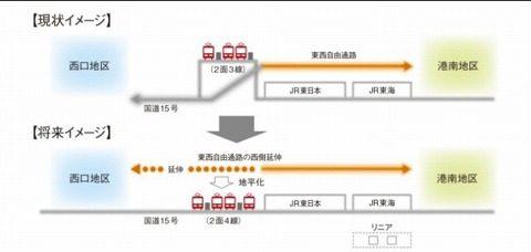 京急品川駅地平化
