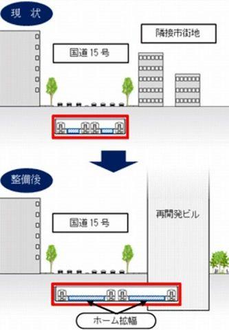 泉岳寺駅改造