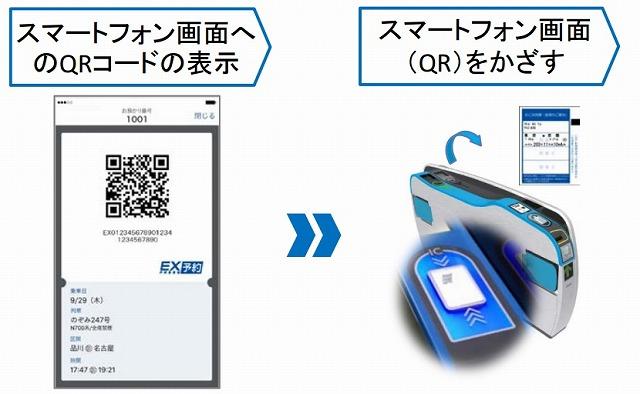 EX予約QRコード