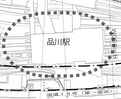 京急品川都市計画図