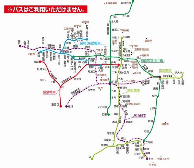 京都あるく町レールきっぷ