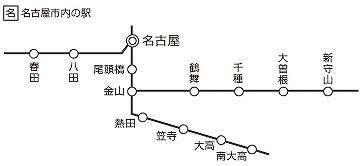 名古屋市内駅