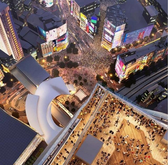 渋谷スクランブルスクエア夜景