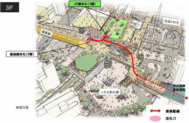 渋谷駅将来構内図