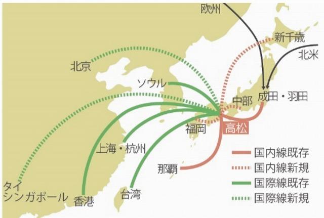 高松空港民営化路線図案
