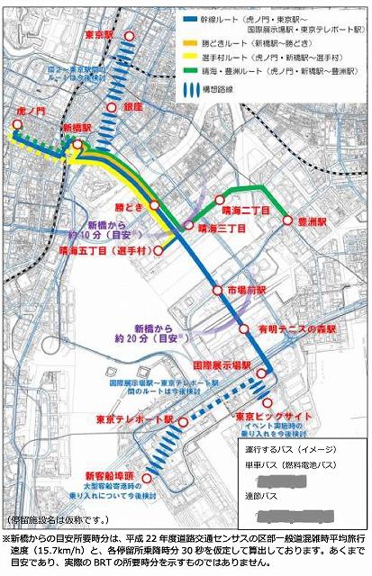 臨海BRT計画図