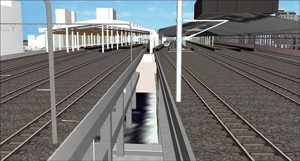 新潟駅高架化イメージ