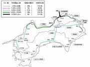 JR四国2017年度輸送密度