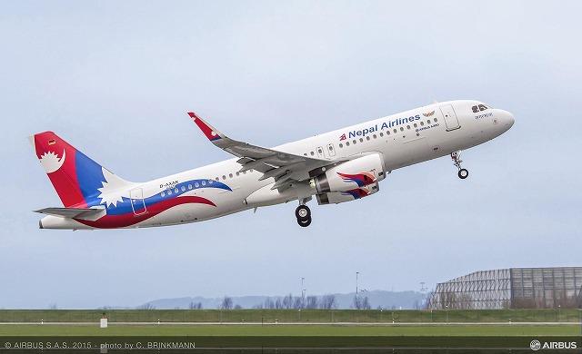ネパール航空A320