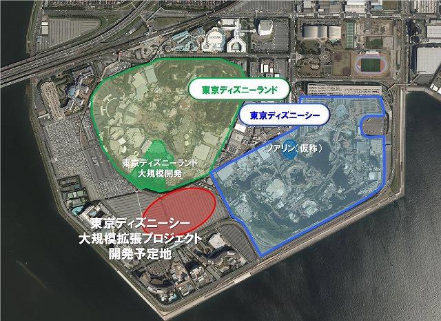 東京ディズニーシー大拡張地図
