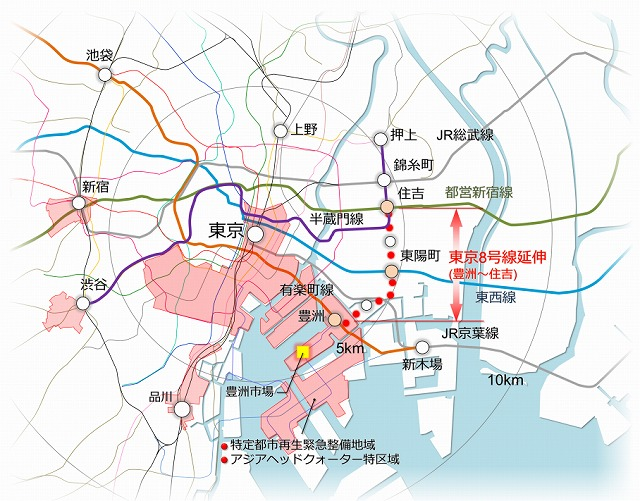 豊住線地図