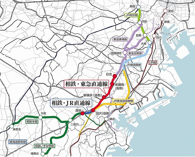 相鉄・JR・東急直通線