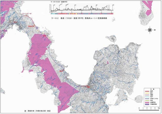 沖縄縦貫鉄道地図
