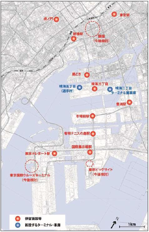 臨海BRT停留所位置