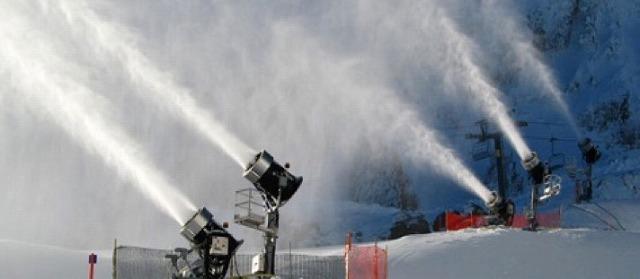白馬八方尾根新型降雪機