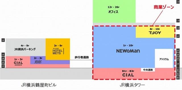 JR横浜タワー配置図