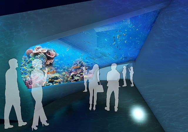DMMかりゆし水族館内装イメージ