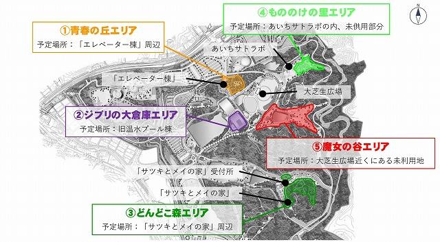 ジブリパーク配置図