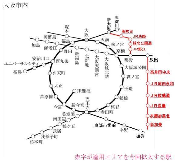 新しい大阪市内駅