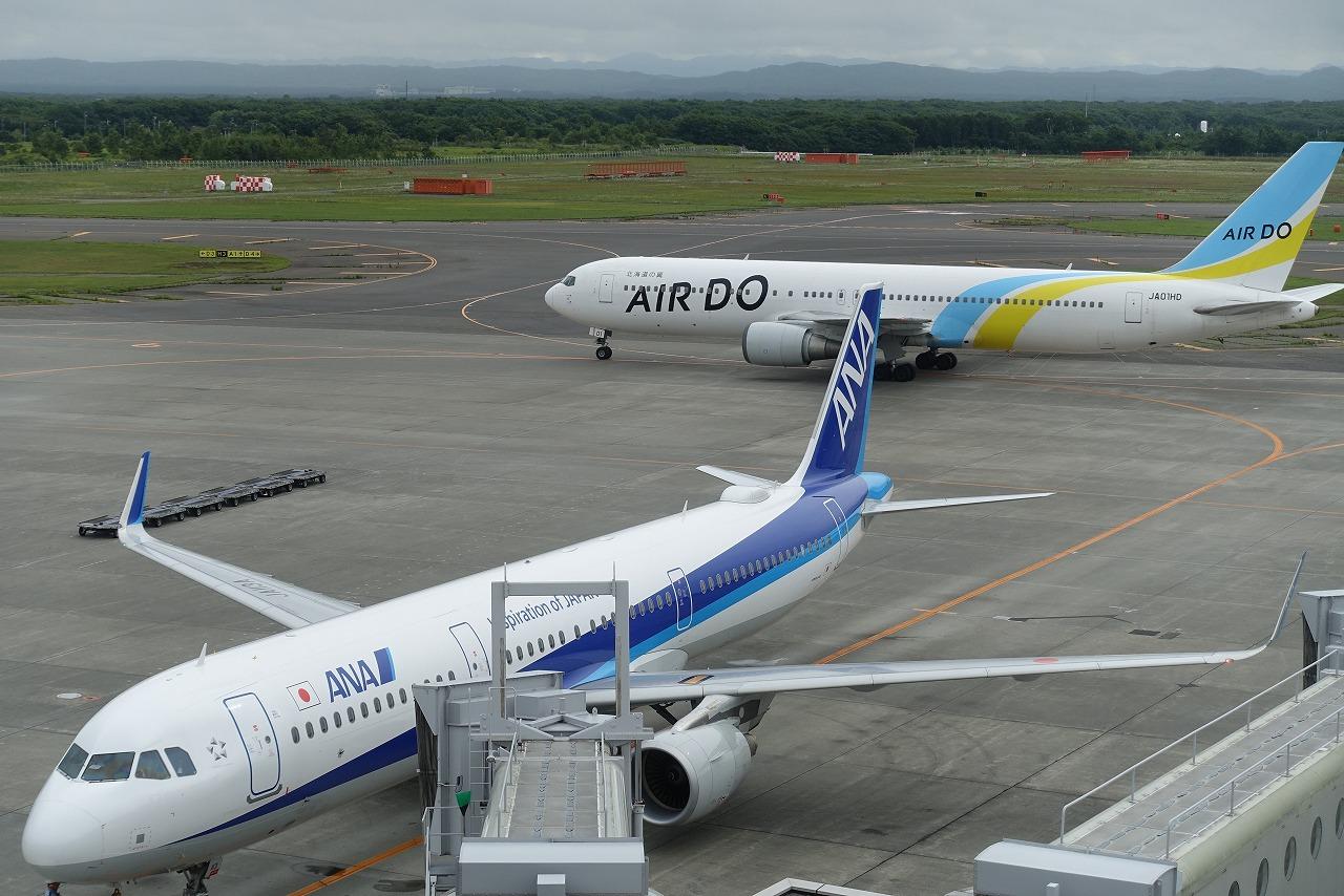 新千歳空港ANAとエアドゥ