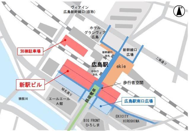 広島駅周辺図