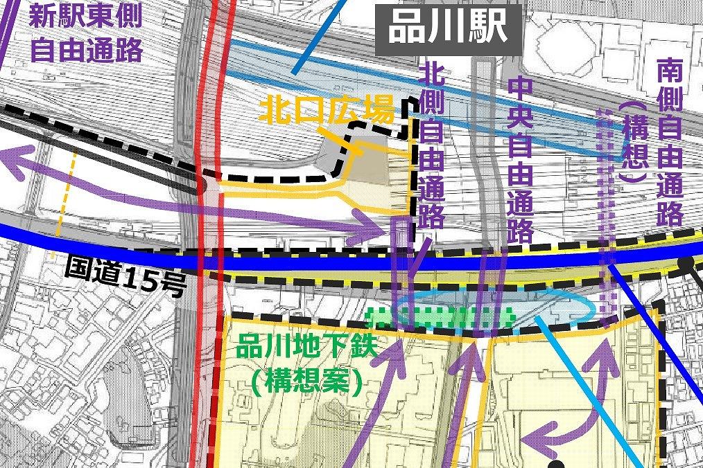 地下鉄品川駅位置