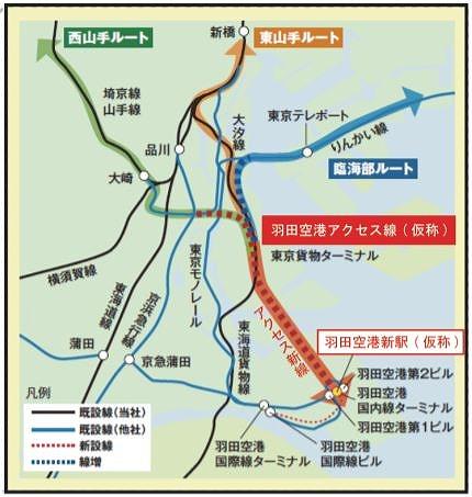 JR羽田空港アクセス線概要図