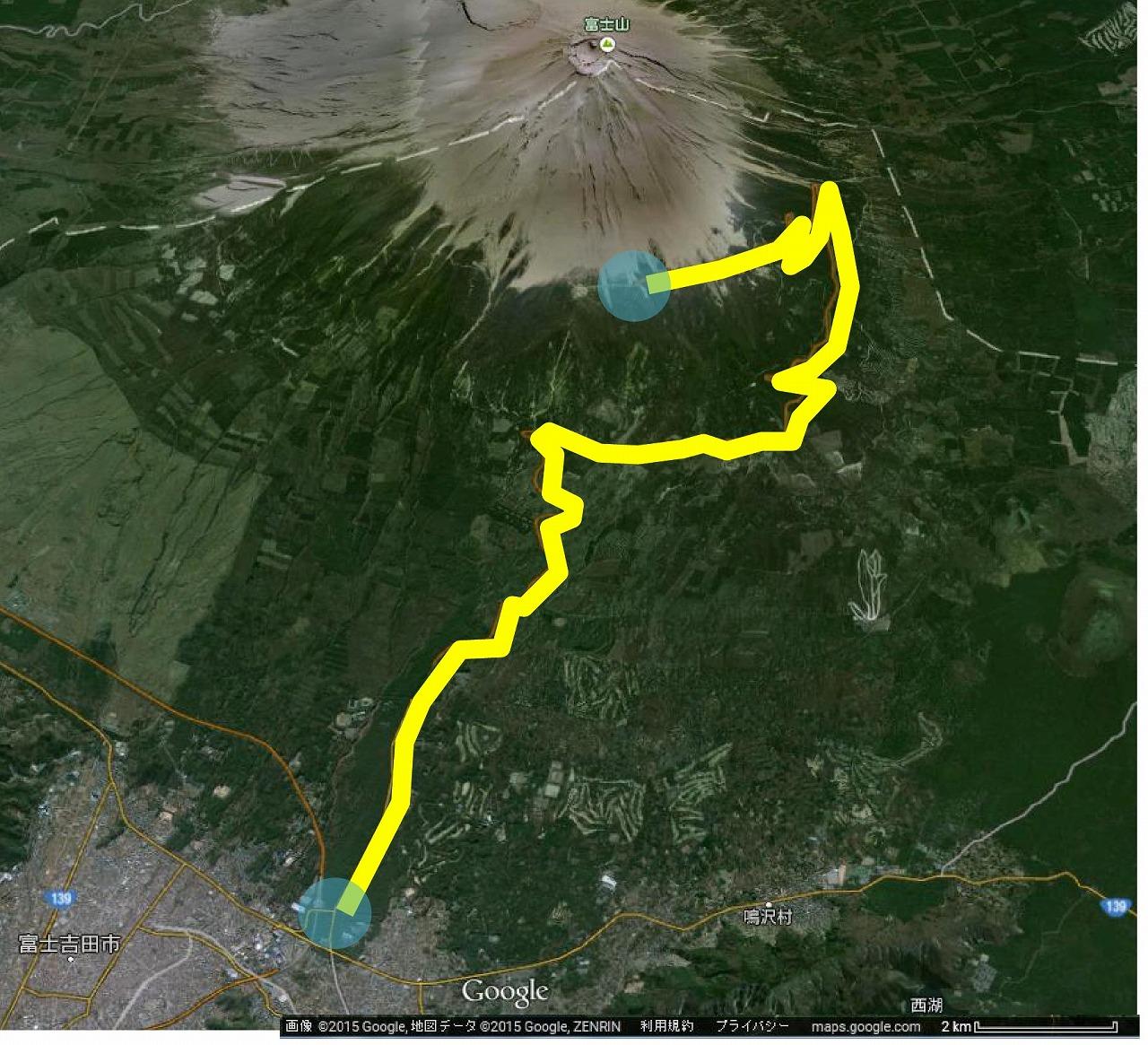富士登山鉄道計画図