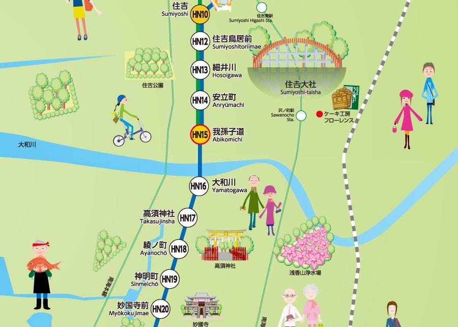 阪堺電車路線図