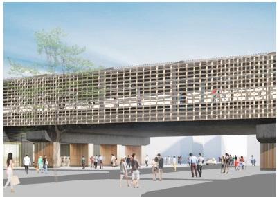 千歳烏山駅舎デザイン