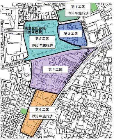 三軒茶屋の再開発工区