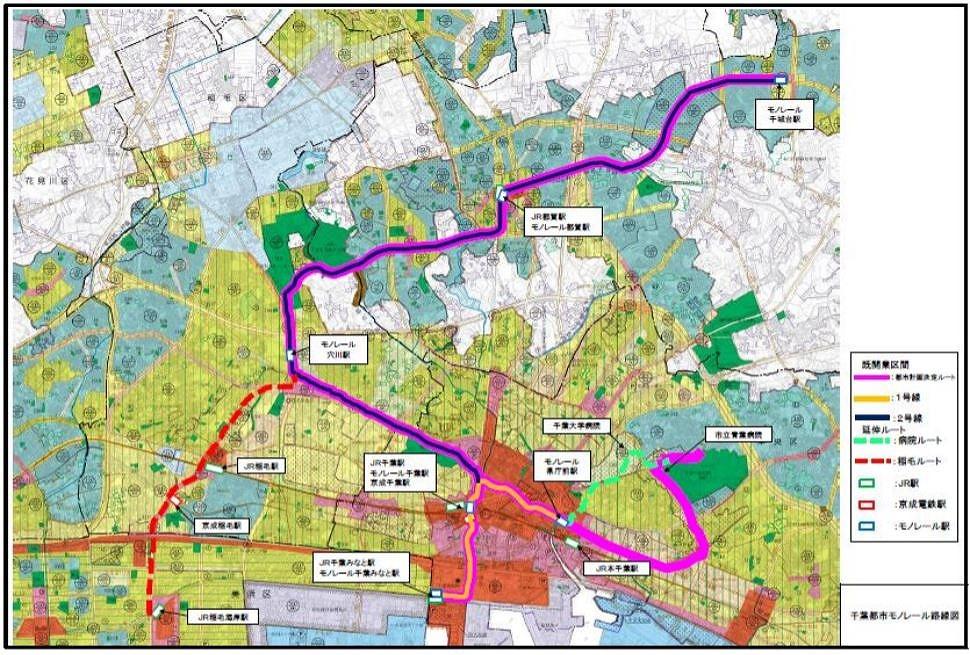 千葉モノレール路線図