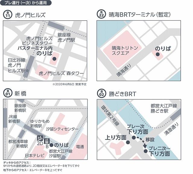 東京BRT停留所位置