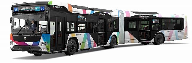 東京BRT連節車