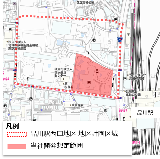 京急品川駅西口再開発