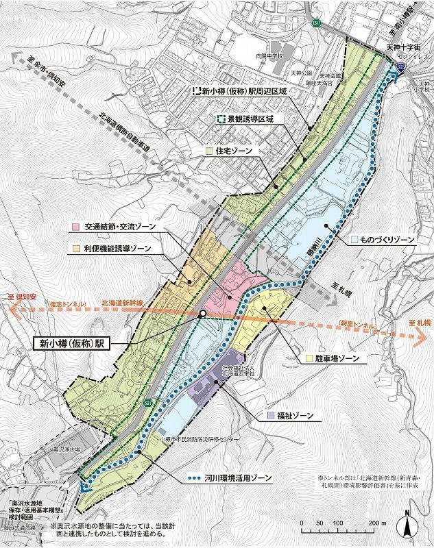 新小樽駅土地計画図