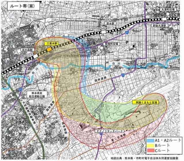 熊本空港アクセス鉄道ルート案