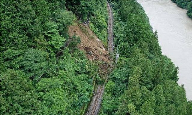 飯田線土砂流入