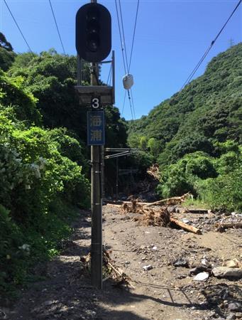 佐敷トンネル付近