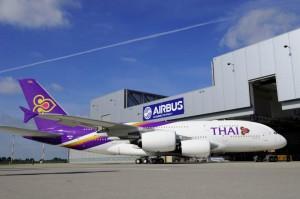 タイ航空のA380型機(写真:タイ航空)