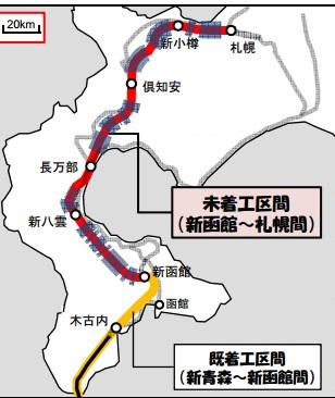 北海道新幹線路線図