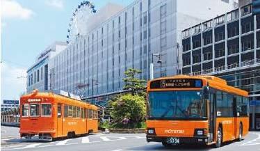 伊予鉄オレンジ車両