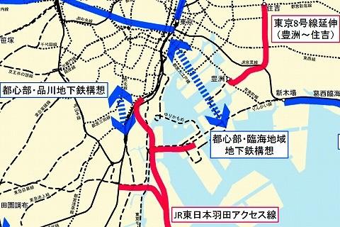 東京の地下鉄計画