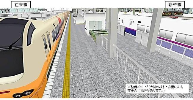 新潟駅同一ホーム