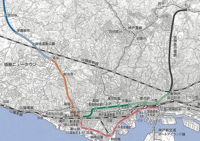 神戸市営地下鉄広域図