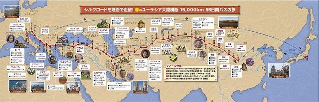 JTBユーラシア横断バスの旅