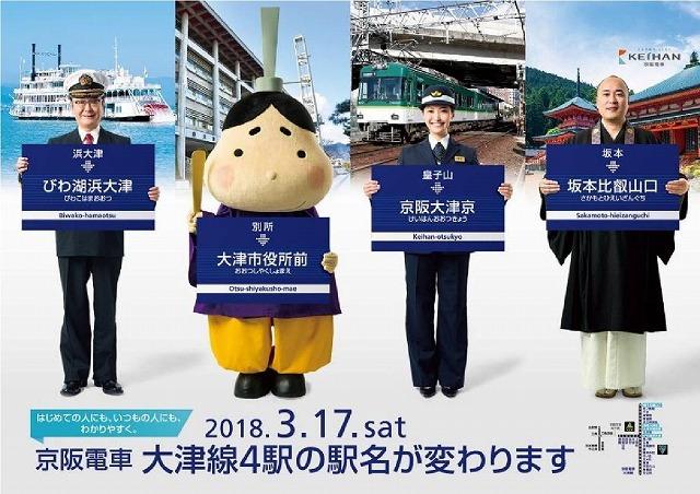 京阪大津線駅名変更